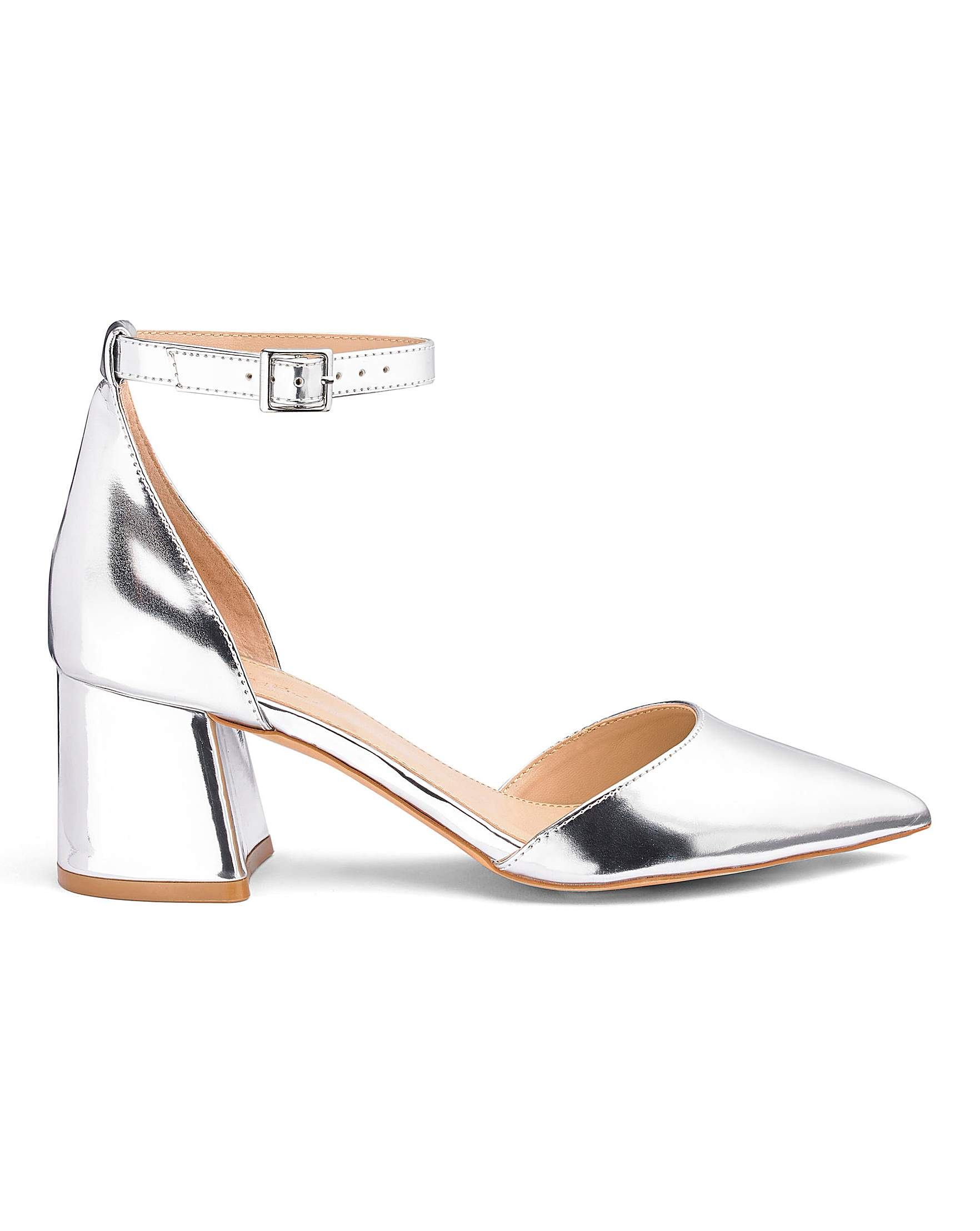 005127a0e19 Este Pointed Block Heels Extra Wide Fit