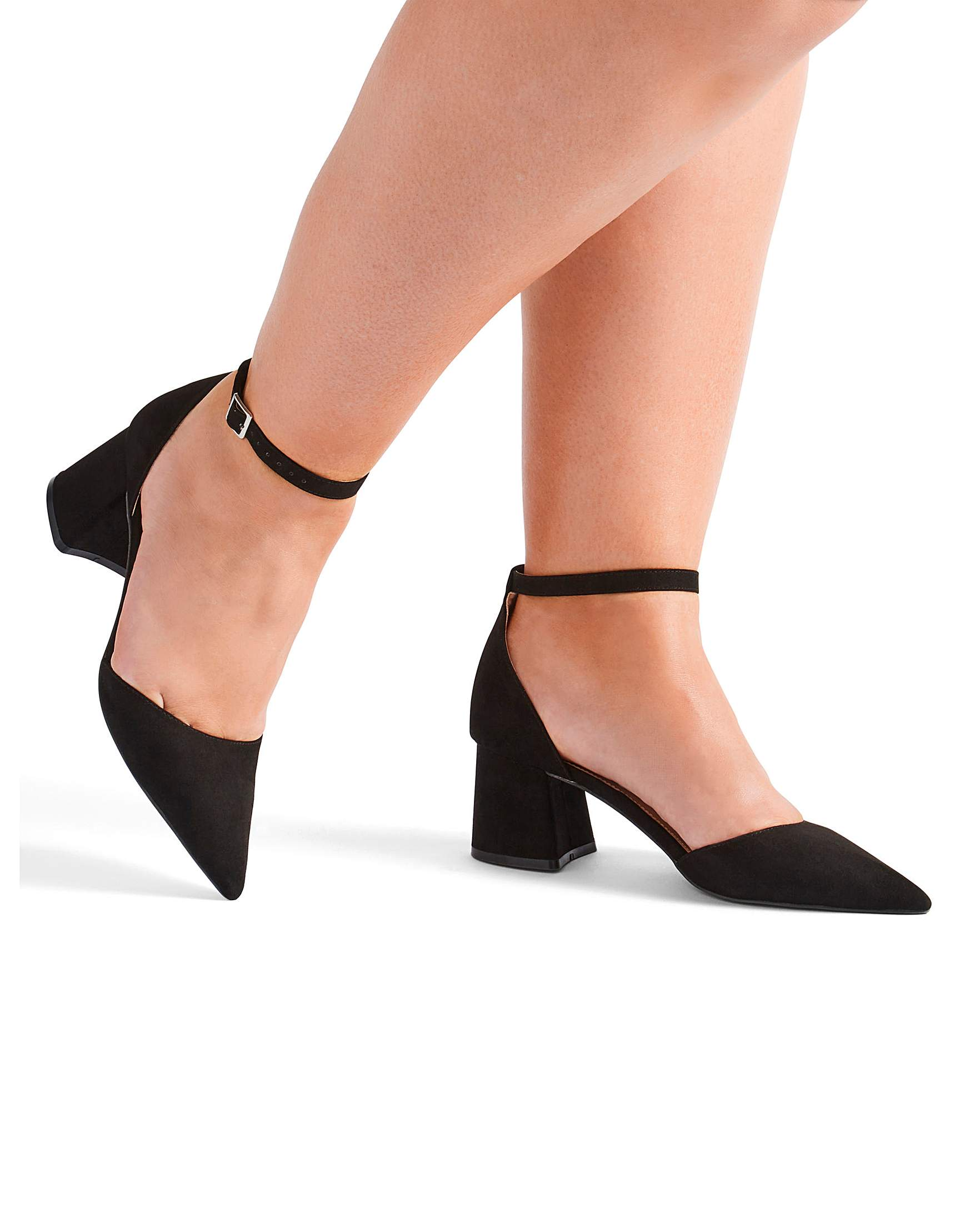 47a4129025e2 Este Pointed Block Heels Extra Wide Fit