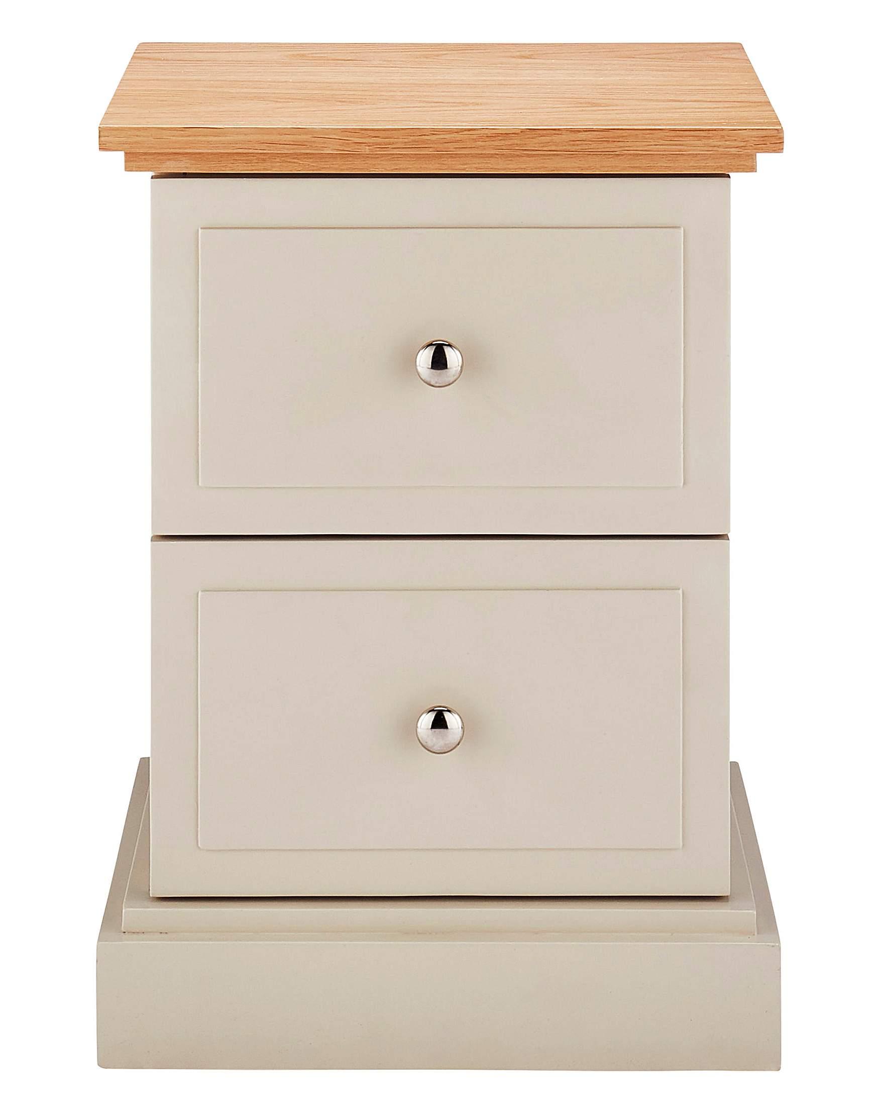 Charlbury 2 drawer bedside table house of bath