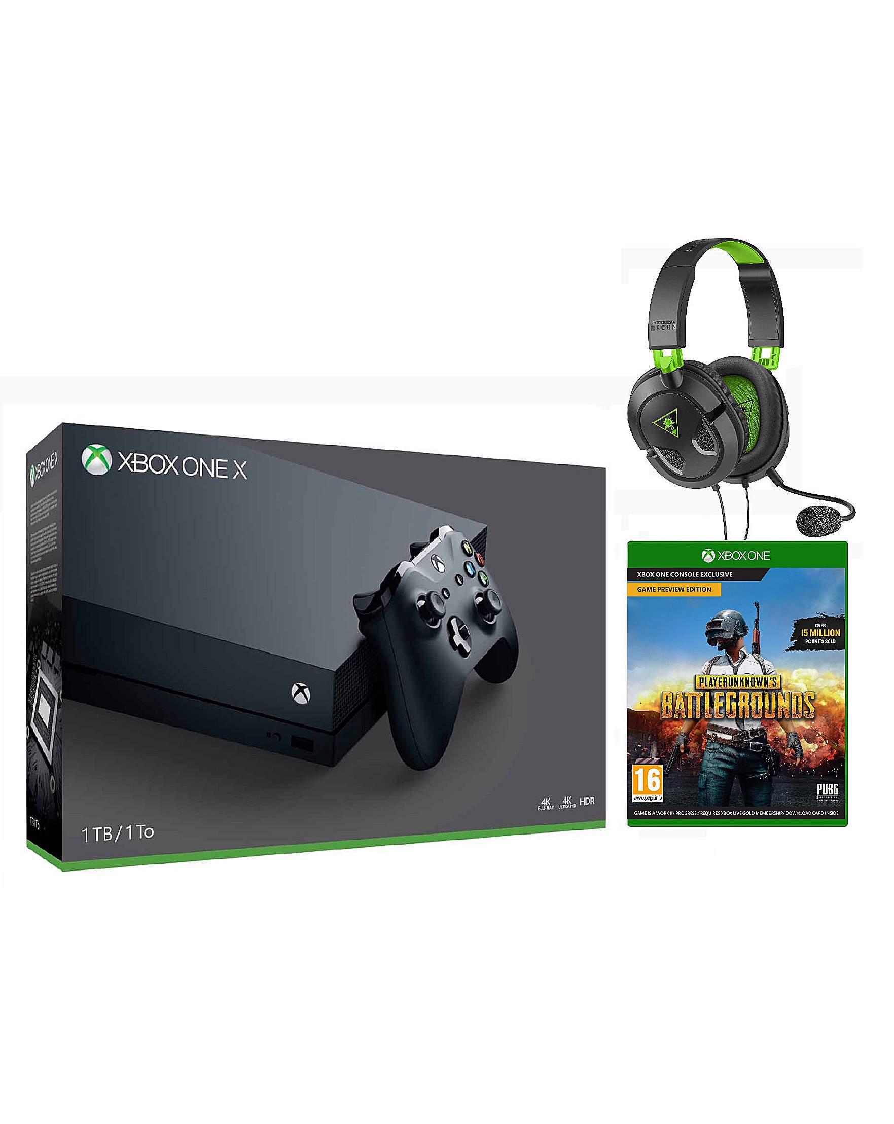 Xbox One X +PUBG +TB 50X