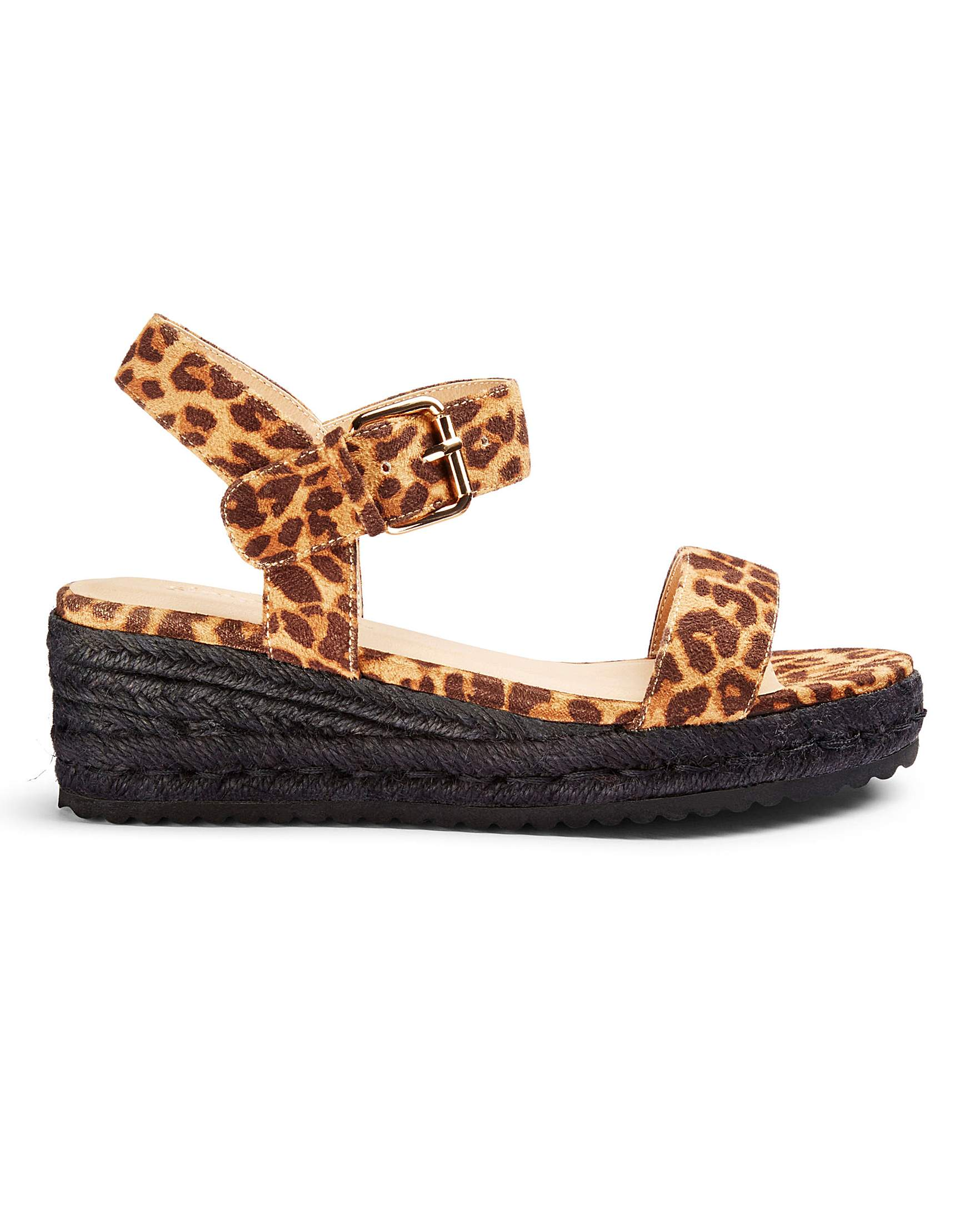 772c289d4 Indra Low Espadrille Wedge Extra Wide | Oxendales