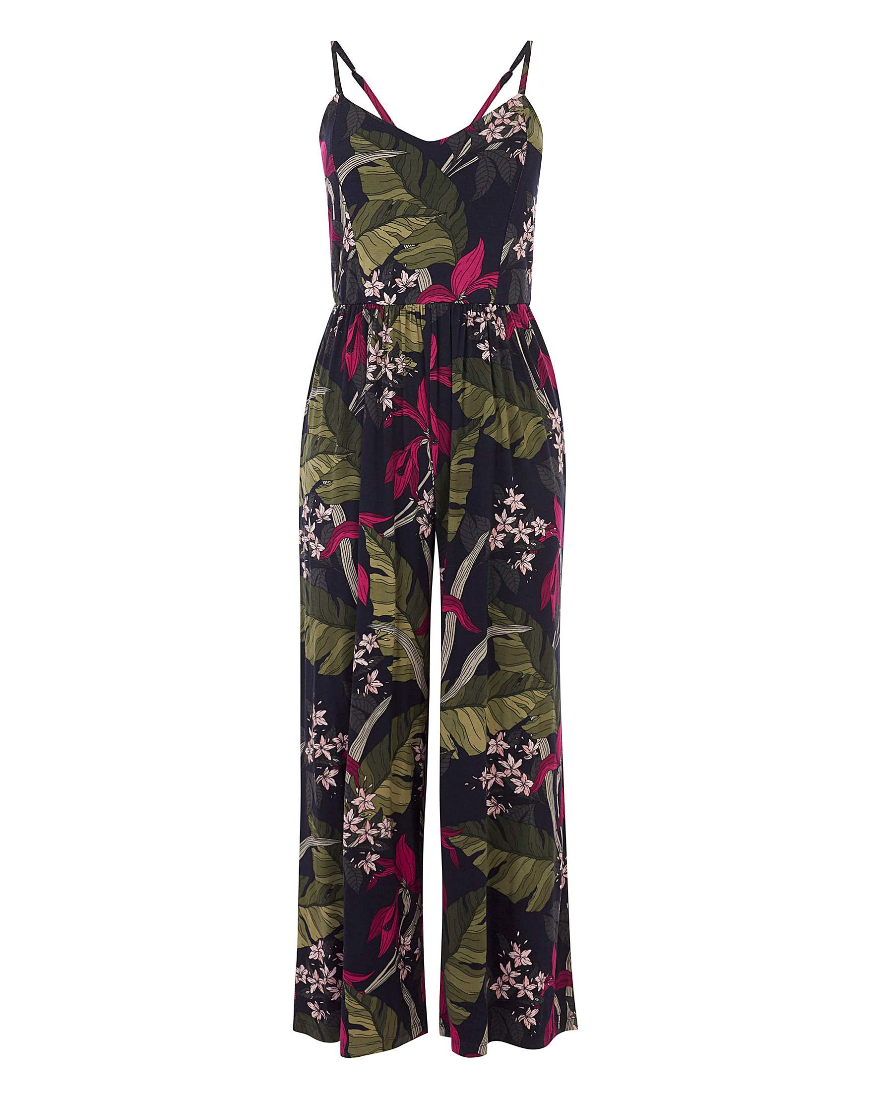 e67876968742 Oasis Curve Bali Cami Culotte Jumpsuit | Simply Be
