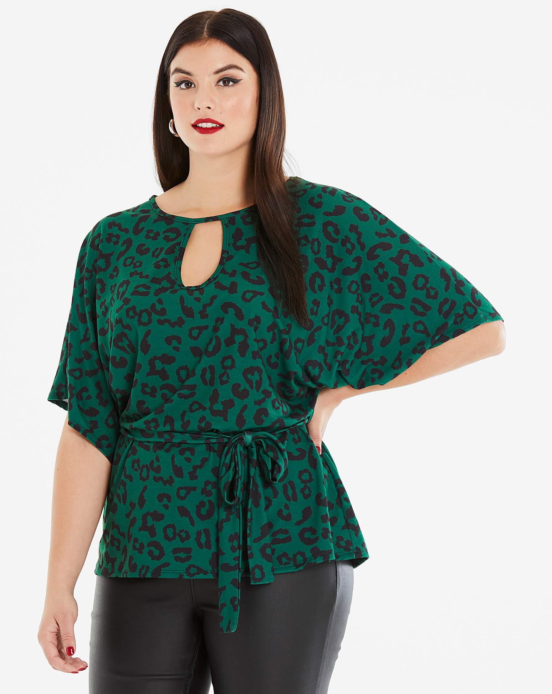 56601e86d153d Pink Clove Green Leopard Print Top