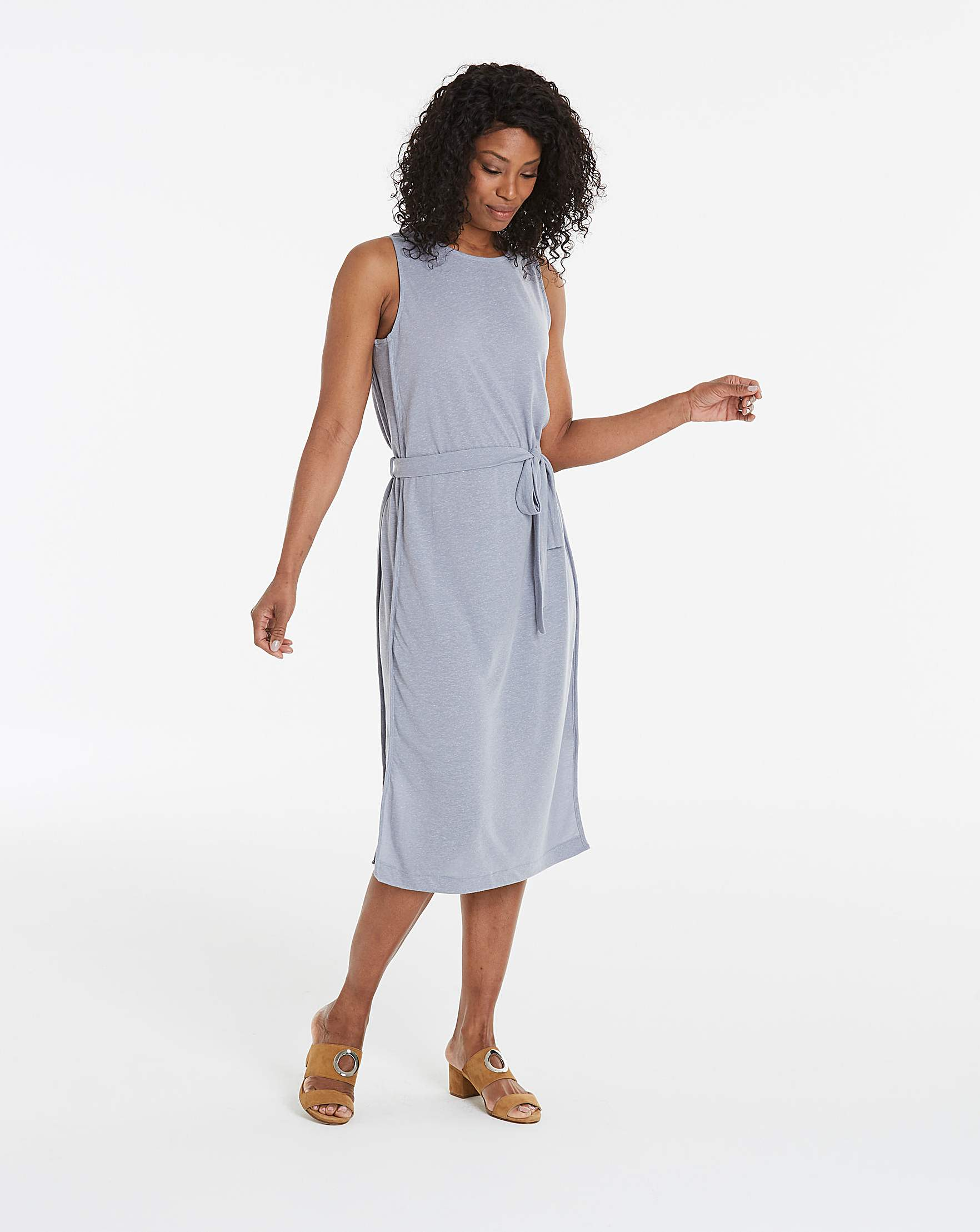 b5feaf9db4 I.Scenery Sleeveless Jersey Midi Dress