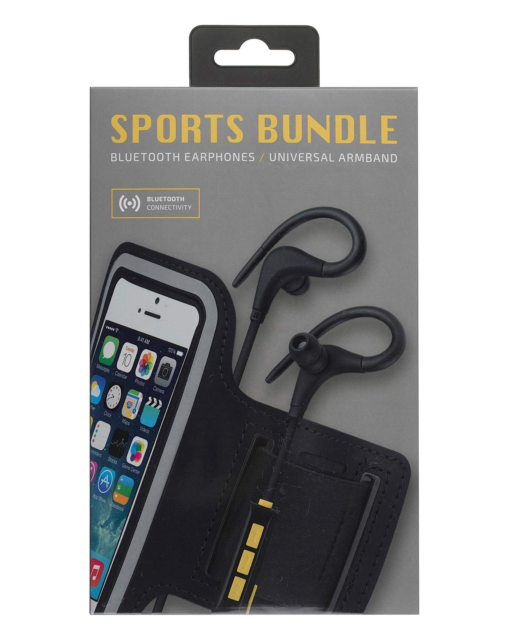 807213a489f KITSOUND Wireless Sports Bundle Black | J D Williams