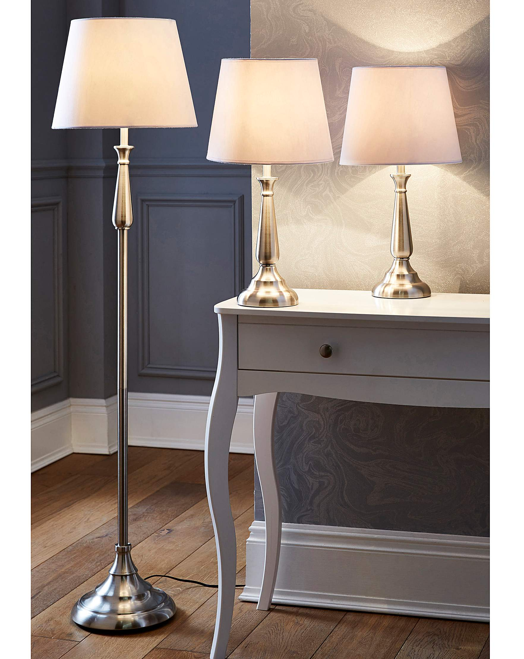 Courtney Floor Table Lamp Set Of 3 J D Williams