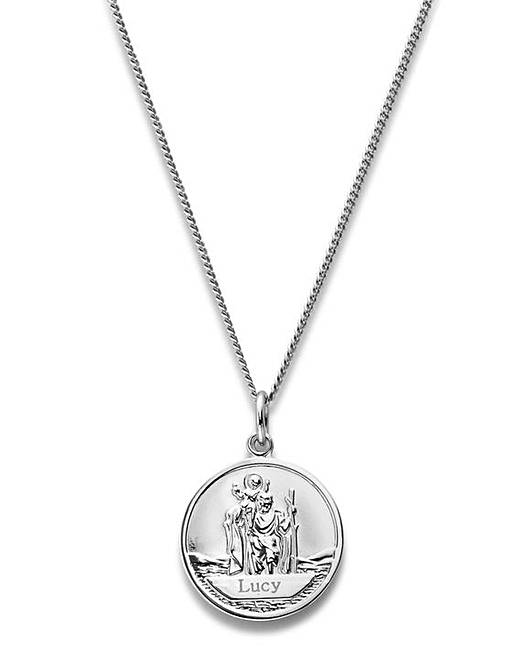 c9e949482639a Personalised St Christopher Pendant