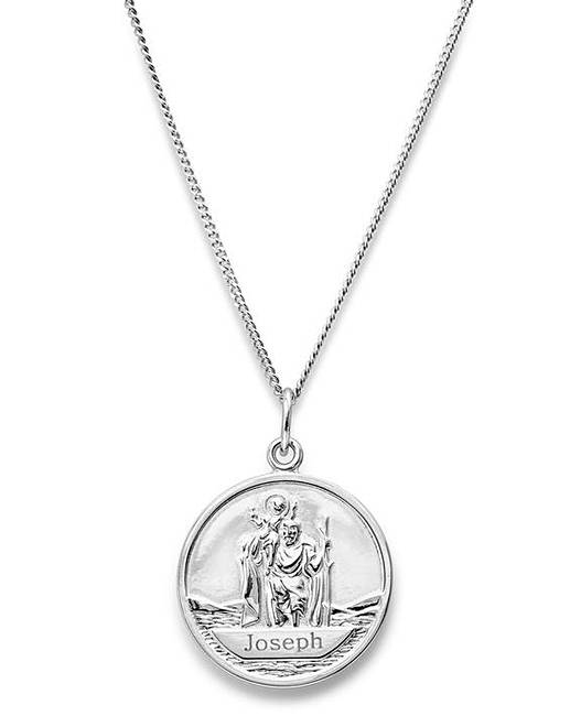 7fb8c153c2a13 Personalised Mens St Christopher Pendant