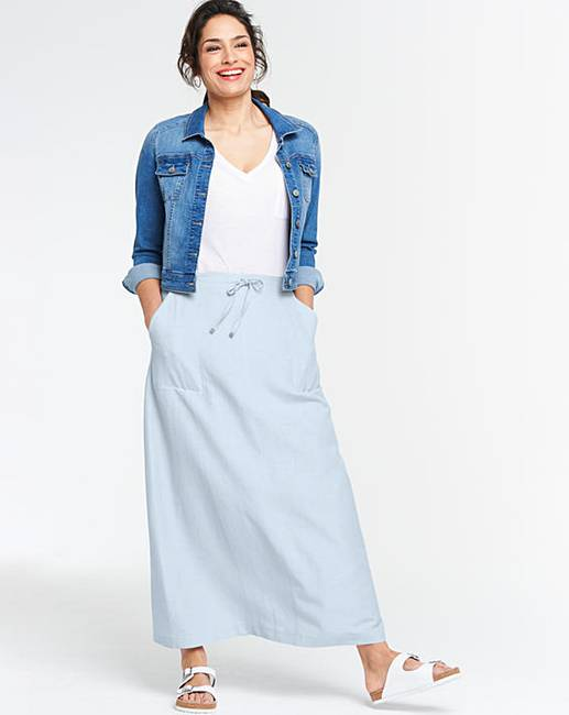 08e9f5cb7 Easy Care Linen Mix Maxi Skirt | Marisota