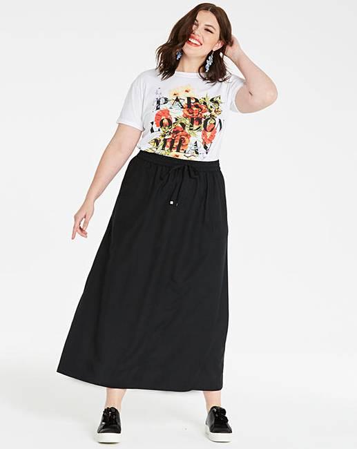 b9534a5ec59 Petite Essential Linen Mix Maxi Skirt