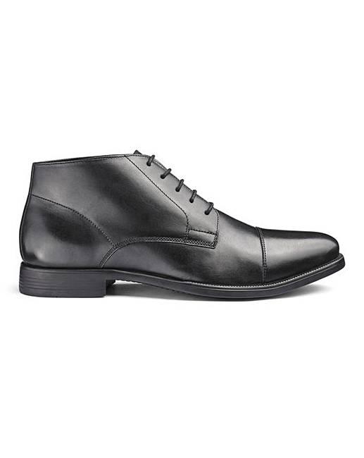 850ec033e42 Leather Toe Cap Derby Boot Ex Wide Fit   Jacamo