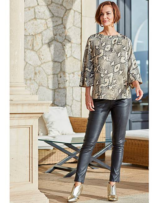 3377d5ff7a16bf Joanna Hope Snake Print Tie Back Blouse. Click to view  Joanna Hope   products. Rollover image to magnify