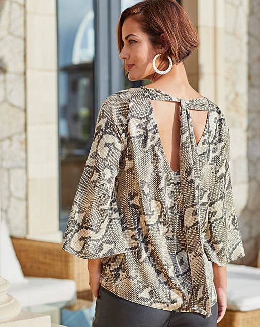 c298280311e902 Joanna Hope Snake Print Tie Back Blouse. Click to view  Joanna Hope   products. Purchased 6 times in the last 48 hrs.