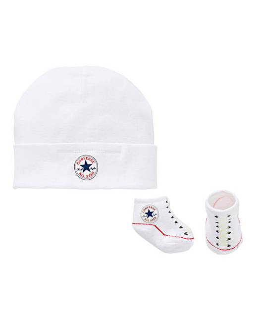 Converse Baby Hat   Bootie Set  a2a307a4b24
