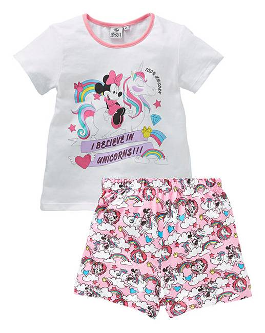c8419fb6 Minnie Mouse Unicorn Girls PJ Short Set | J D Williams