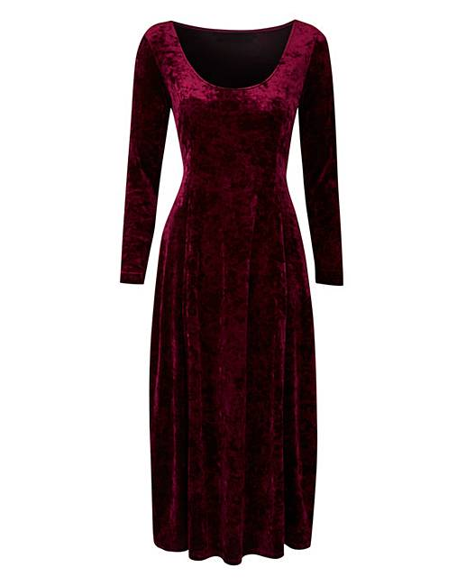 Joanna Hope Crushed Velour Dress by Joanna Hope