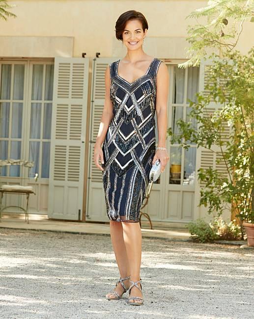 Cheap Joanna Hope Beaded Shift Dress for sale