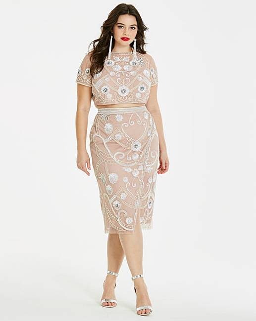 de406b6fab8 Simply Be Beaded Top and Skirt Co-Ord | Simply Be