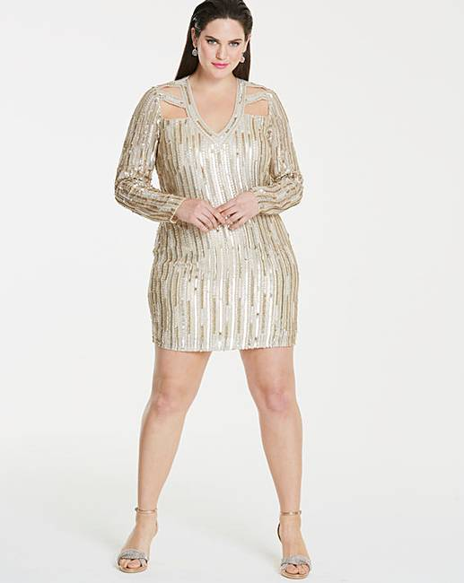 63f53055503 Simply Be Beaded Dress | Simply Be