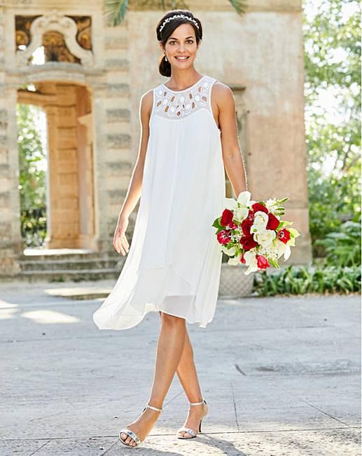 75f1268648dc Joanna Hope Jewel Trim Swing Dress