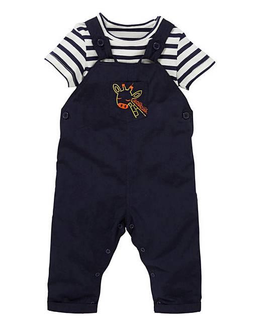 9fb853b6de6c KD Baby Boy Dungaree and T-Shirt Set