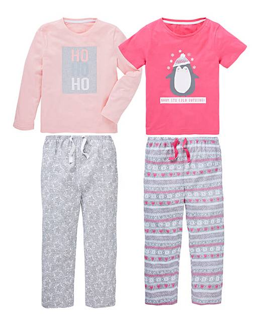 1d63013d4385 KD Girls Pack of Two Christmas Pyjamas