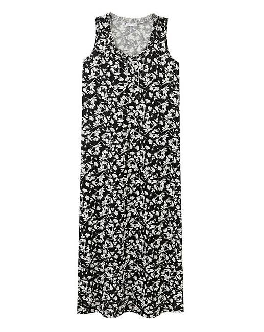 Pretty Secrets Black Floral Maxi Nightie. Click to view  Pretty Secrets   products. Rollover image to magnify 48bc97af4