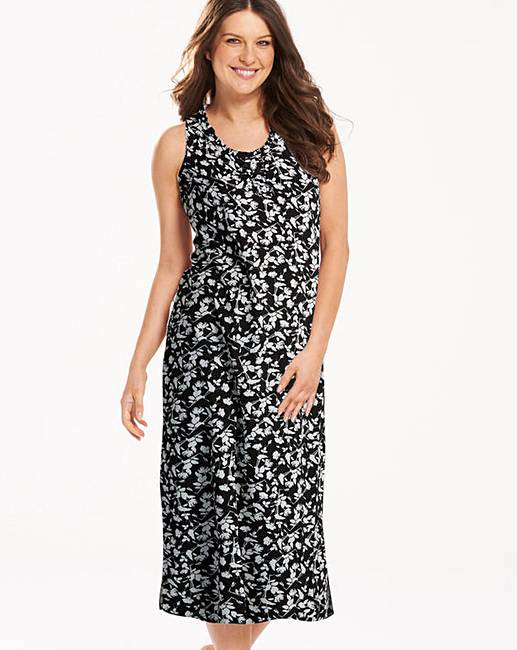 Pretty Secrets Black Floral Maxi Nightie  f362f3f62
