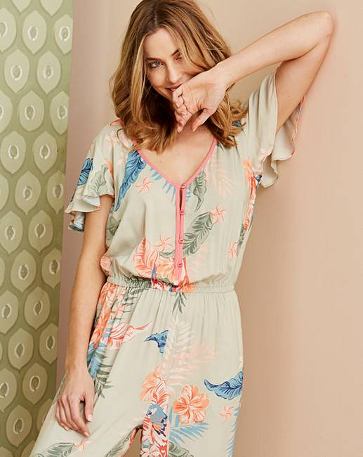 c25b56dd151 Pretty Secrets Tropic Frill Jumpsuit. Click to view  Pretty Secrets   products. Rollover image to magnify