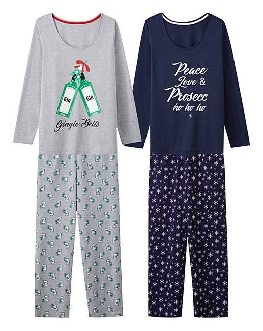 Pretty Secrets 2pk Long Sleeve PJ Sets  541b5272f