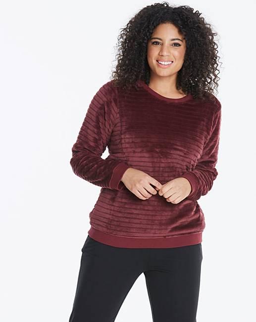 63e054fc56 Pretty Secrets Textured Fleece Jumper