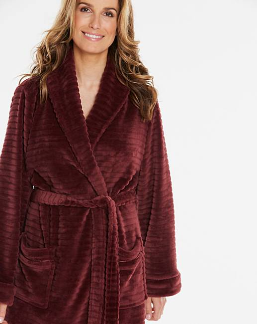 64e34b6050 Pretty Secrets Textured Fleece Gown. Click to view  Pretty Secrets   products. Rollover image to magnify