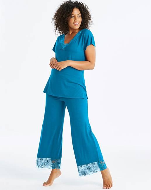 b6435a50f1b Pretty Secrets Ella Lace Teal Pyjama Set