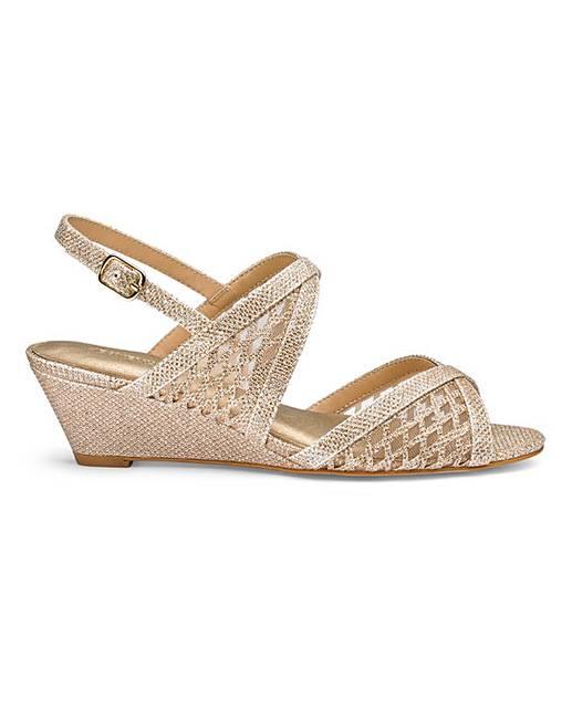669e27b1d5e Heavenly Soles Wedge Sandals E Fit