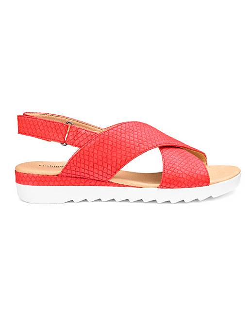 2d02e414dbc Cushion Walk Crossover Sandals EEE Fit