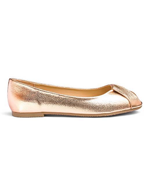 5da5323881e4a Peep Toe Ballerina Shoes E Fit