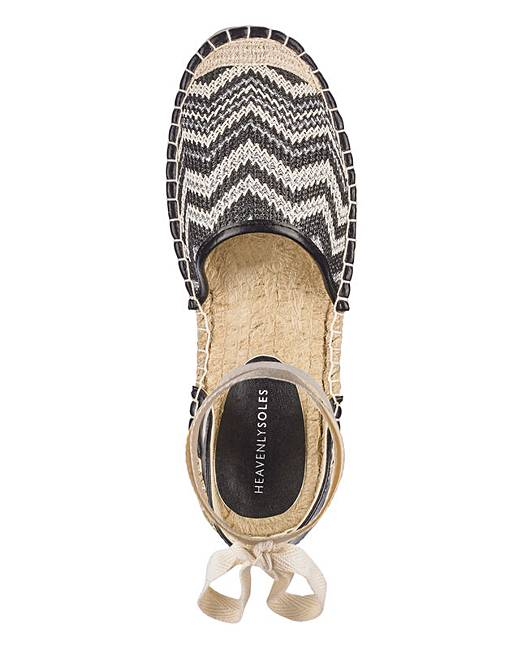 7e84e7462 Leg Tie Flat Espadrilles Wide E Fit. Click to view 'JDW' products. Rollover  image to magnify