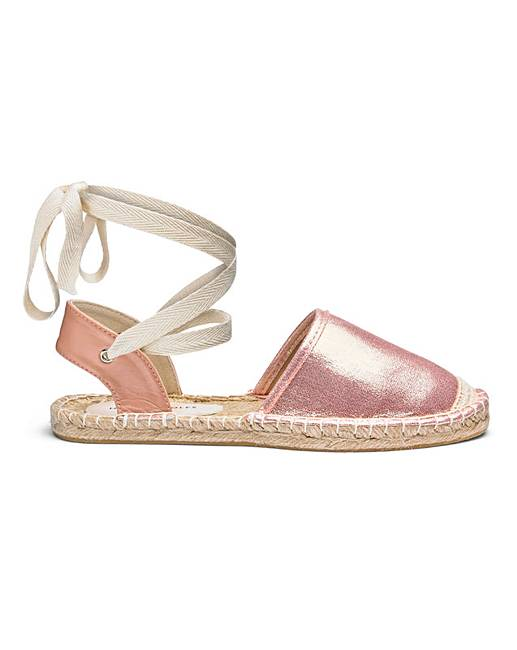 d86fbde61 Leg Tie Flat Espadrilles E Fit | J D Williams