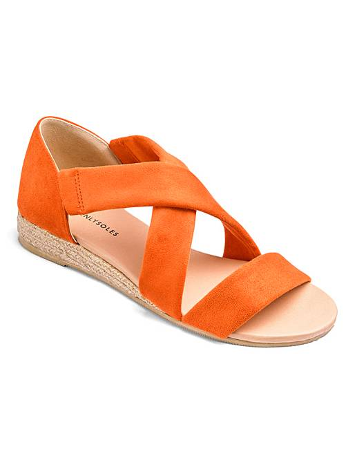 350a8af117c HEAVENLY SOLES. STRAPPY SANDALS EXTRA WIDE EEE FIT