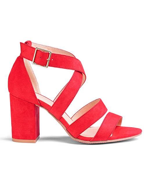 Flexi Sole Block Heel Sandals Wide
