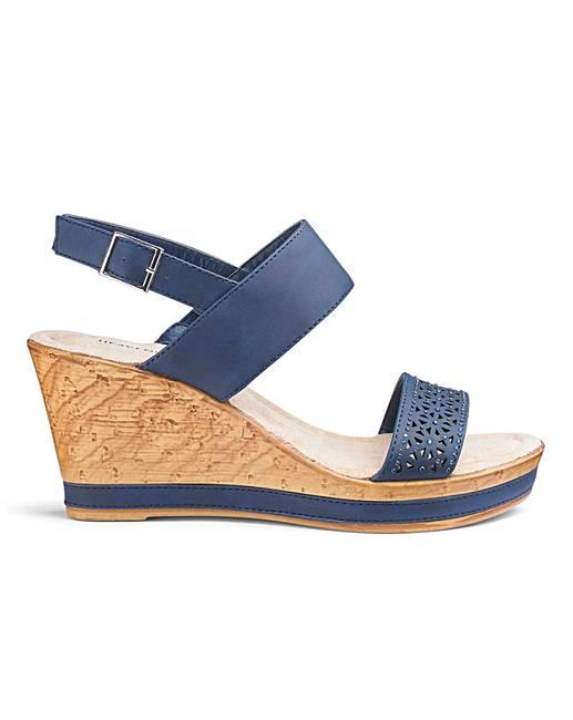 998bd05378d Heavenly Soles Wedge Sandals EEE Fit