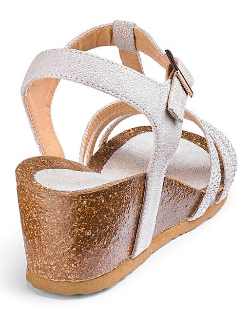 17c9dd8723e Heavenly Soles Wedge Sandals Extra Wide EEE Fit. Click to view  JDW   products. Rollover image to magnify