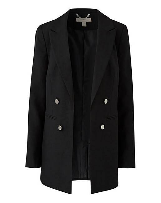 Mix And Match Black Edge To Edge Blazer by Fashion World