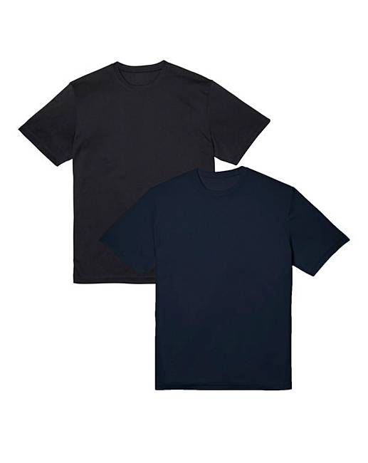 Poly Crew T ShirtsJacamo Capsule Of Neck 2 Pk 15uTFJK3cl