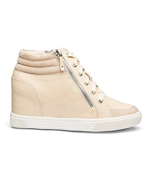 Leila Wedge Trainer Wide E Fit by Simply Be