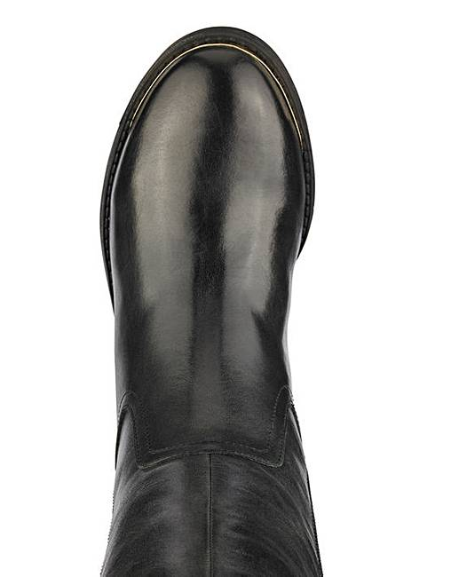 f860dfcd58a Katie Leather Boot Curvy Calf Wide E Fit