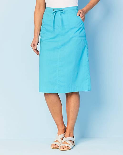 5799708b3df6 Pull On Cotton Skirt | J D Williams