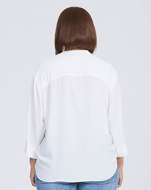 dffde0eae47af2 Elvi White Embellished Blouse. Click to view 'Elvi' products. Rollover  image to magnify