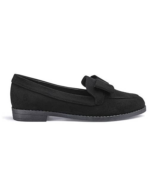 aa9120b7bd4 Juno Bow Loafers Extra Wide Fit