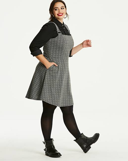 Charcoal Ponte Pinafore Dress by Simply Be